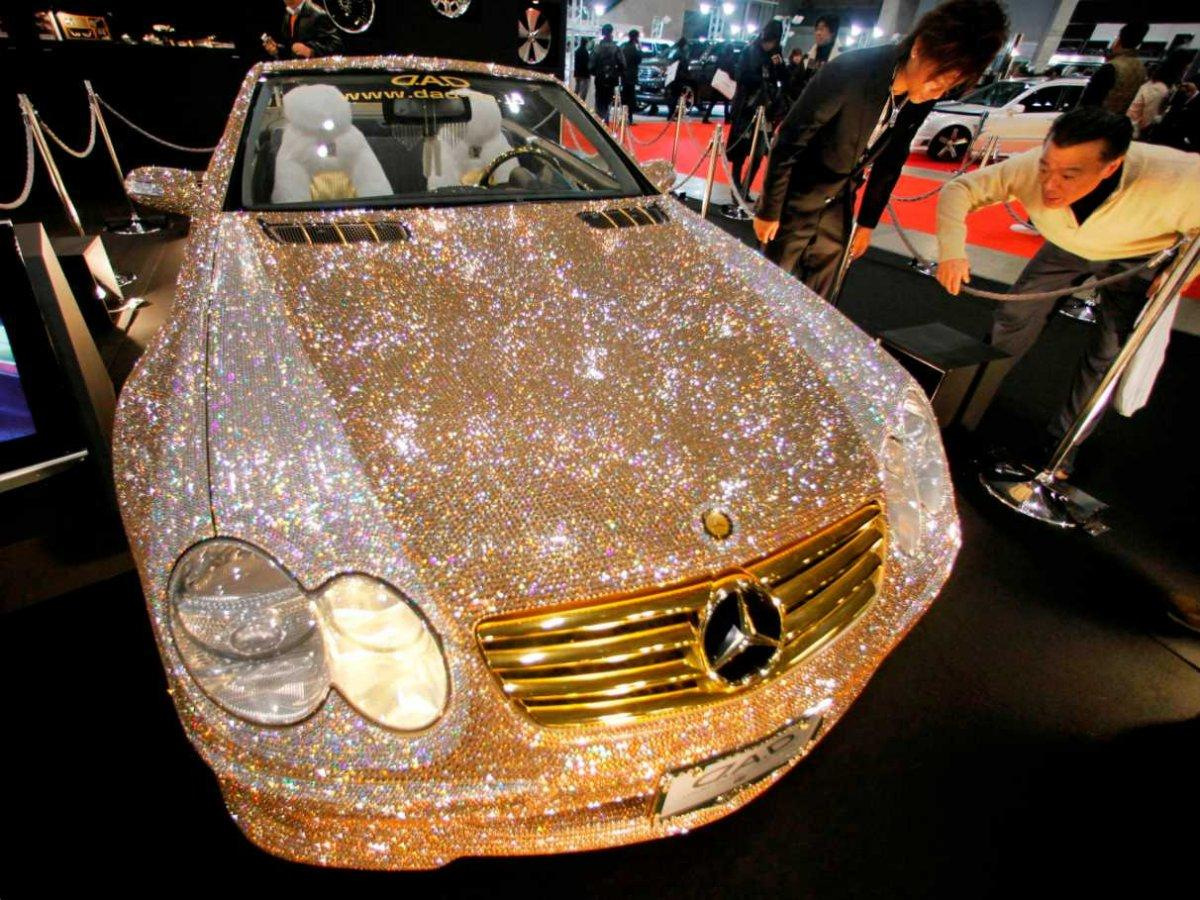 World S Most Expensive Car Mercedes With 300 000 Diamonds