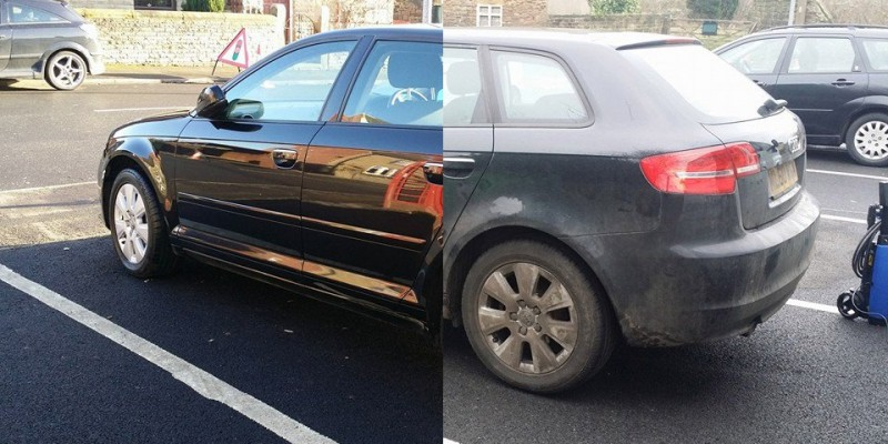 Before And After Car Wash Dirty