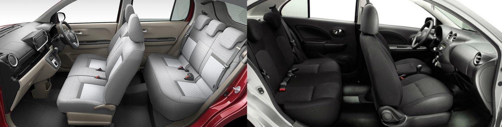Toyota Passo Vs Nissan March Interiors
