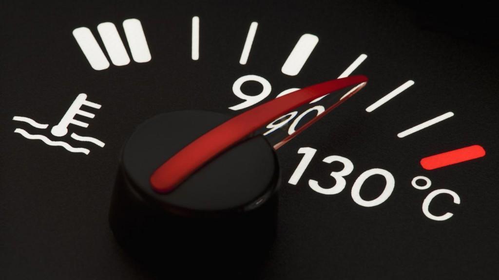 Increase in the engine temperature