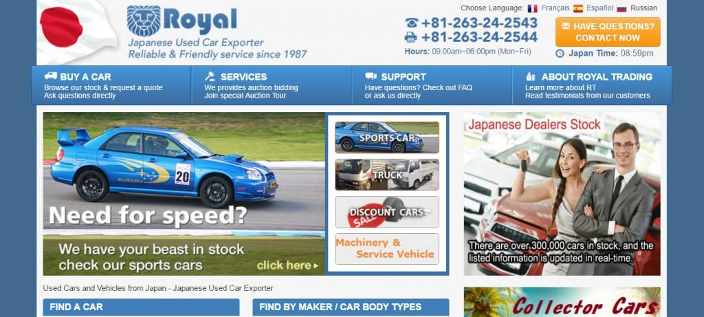 Royal Trading - top used car exporter from Japan