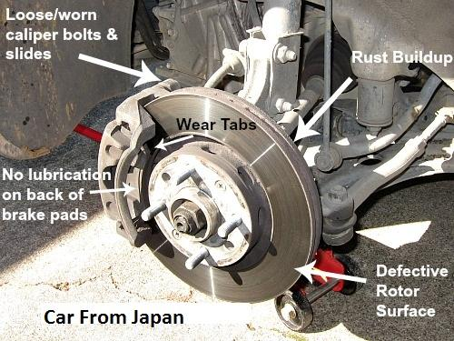 Car Break Pads Worn : Brake noise detection for a proper diagnosis car from japan