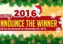 xmas car giveaway winner 2016