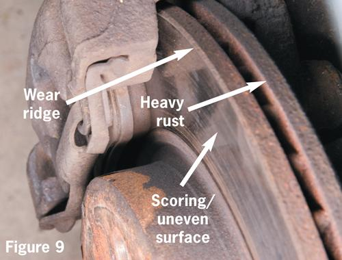 brake rotor replacement grooves