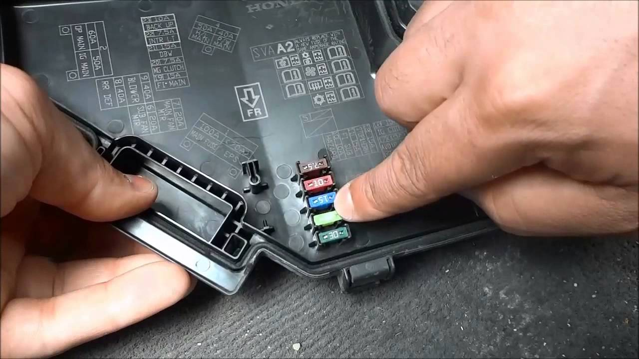 How to detect and replace a blown fuse in car from japan