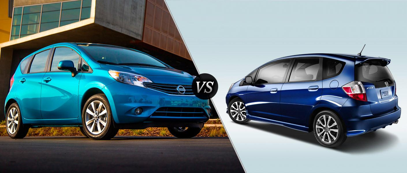 Nissan note vs honda fit