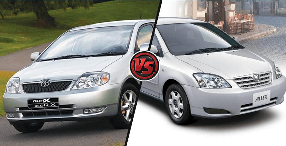 A Complete Comparison Between Toyota Allex Vs Runx Car