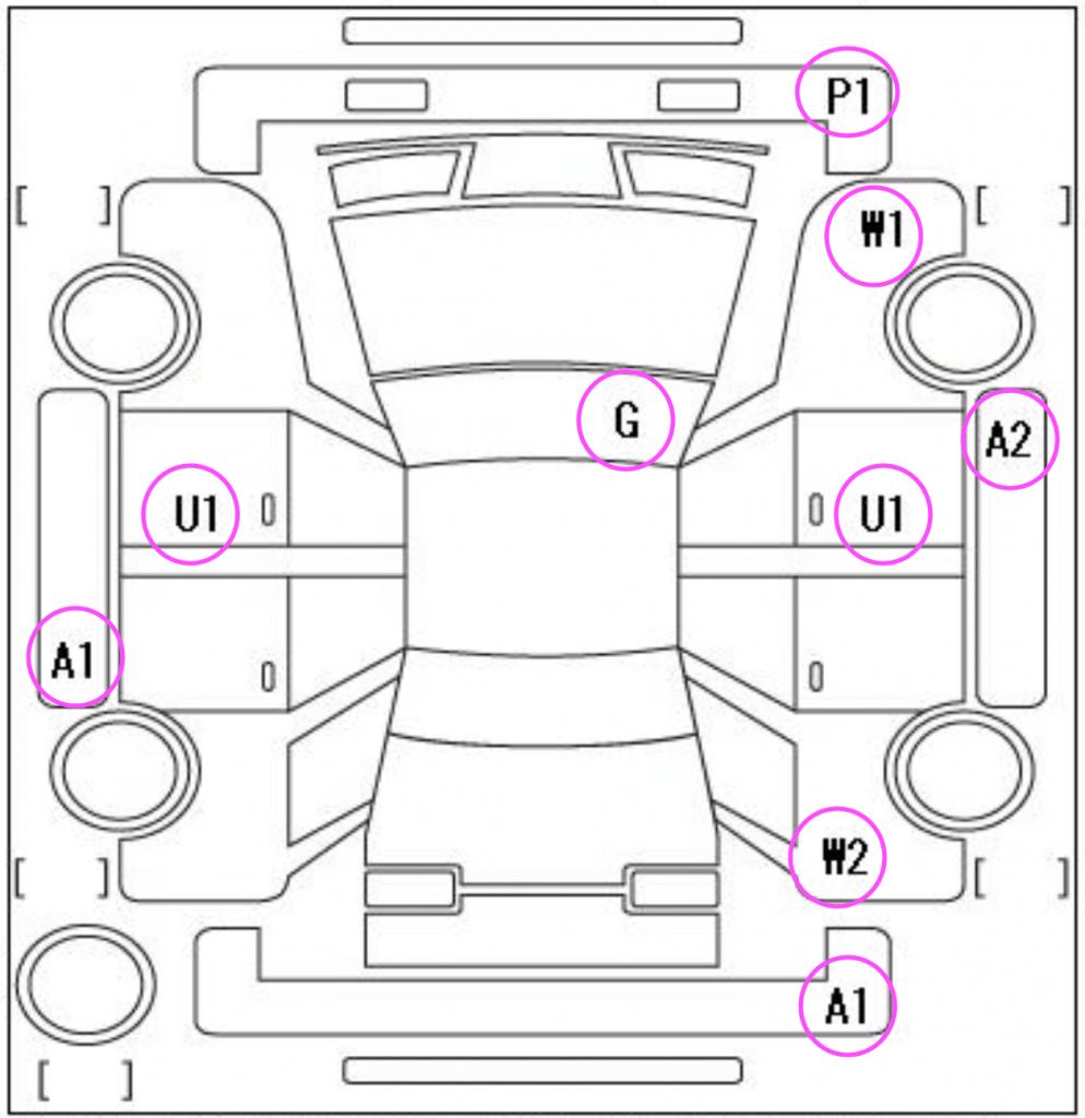 Sample Car inspection markings