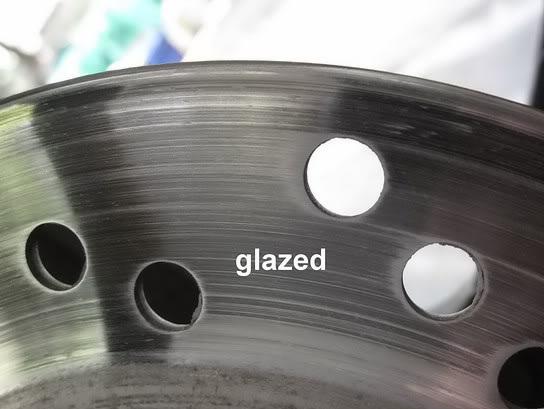 glazed brake pads