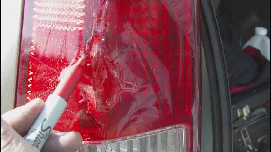 cracked tail light repair
