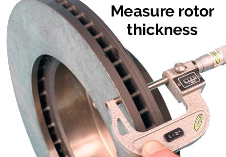 measuring rotor thickness
