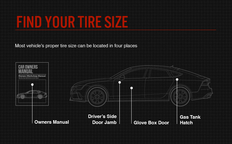 how to find tire size for your car car from japan. Black Bedroom Furniture Sets. Home Design Ideas