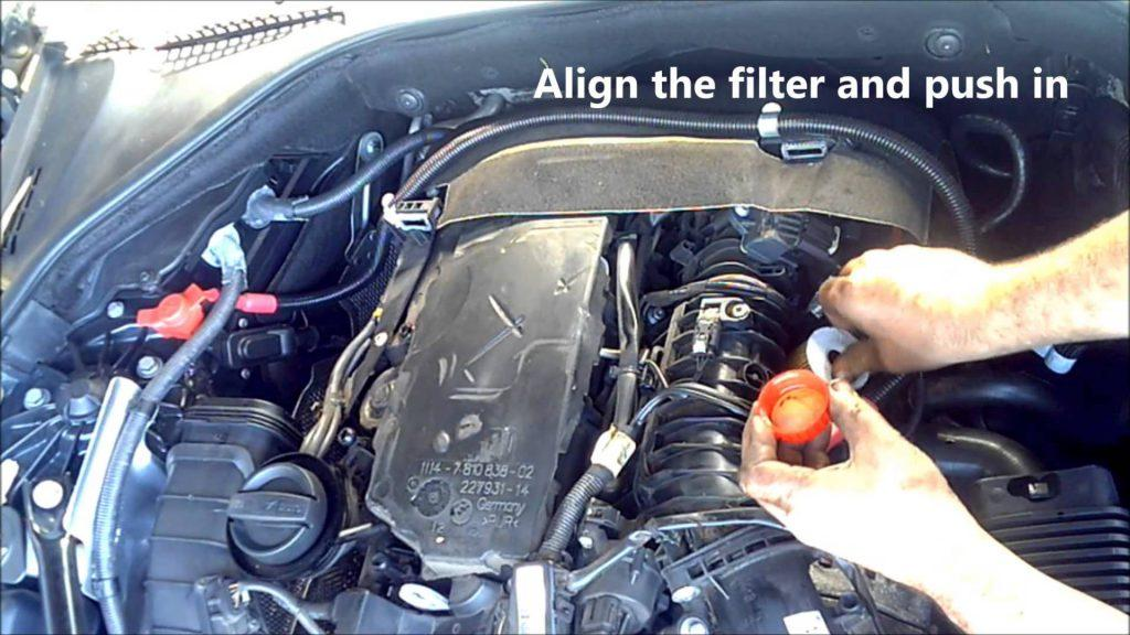How to remove oil filter cartridge