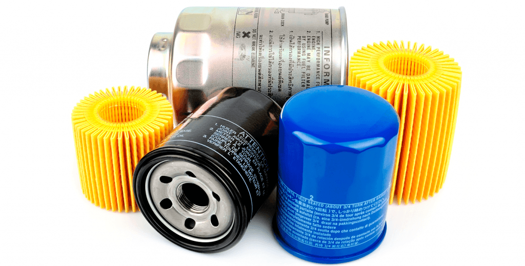 Oil filters for cars' sizes and designs