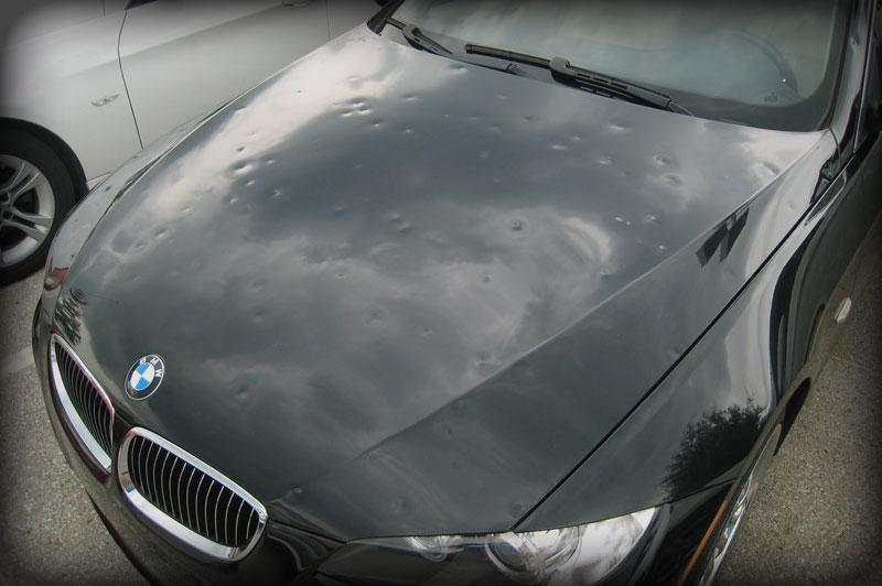 Hail Damage To Car Paint