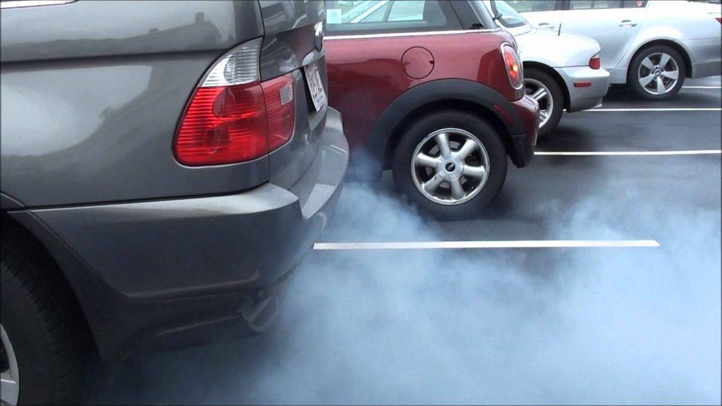 Smoking Vehicle type: Blue exhaust smoke