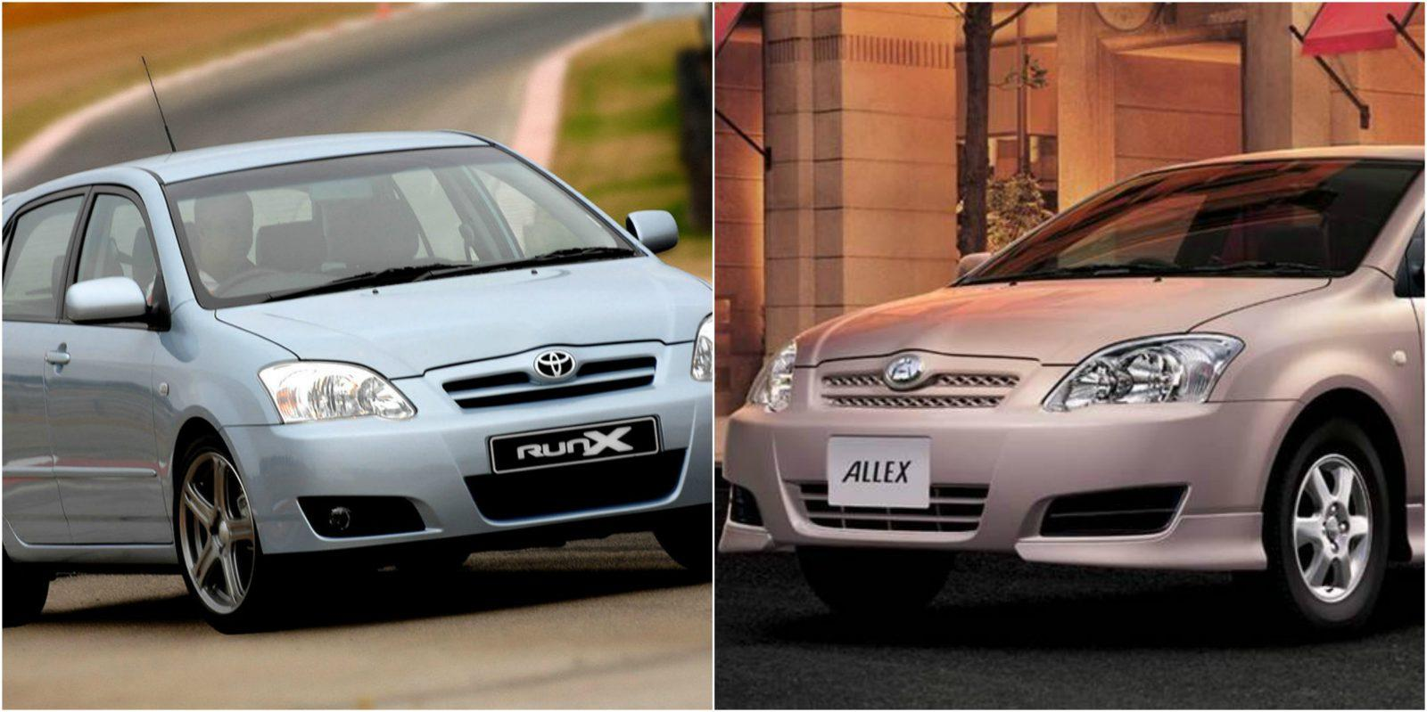 Difference Between Toyota Runx And Allex Car Comparison