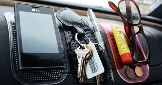 Organize the gadgets with sticky pads