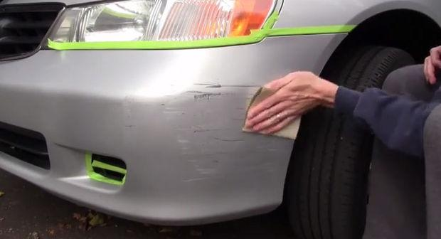 dent and scratch repair by sand paper