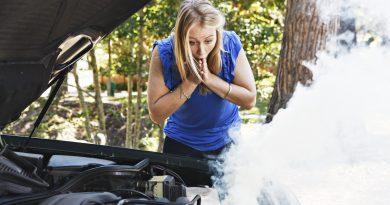 Smoking car engine temperature
