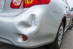 car rear bumper accident