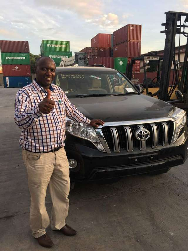 Sir JOSEPH KIGURU GACHOMBA from Kenya with the Toyota Prado - affordable SUV in Kenya