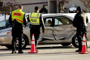polices at the accident