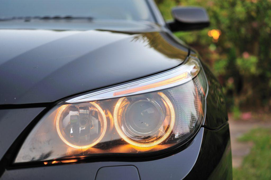The headlight should be turned on after the engine