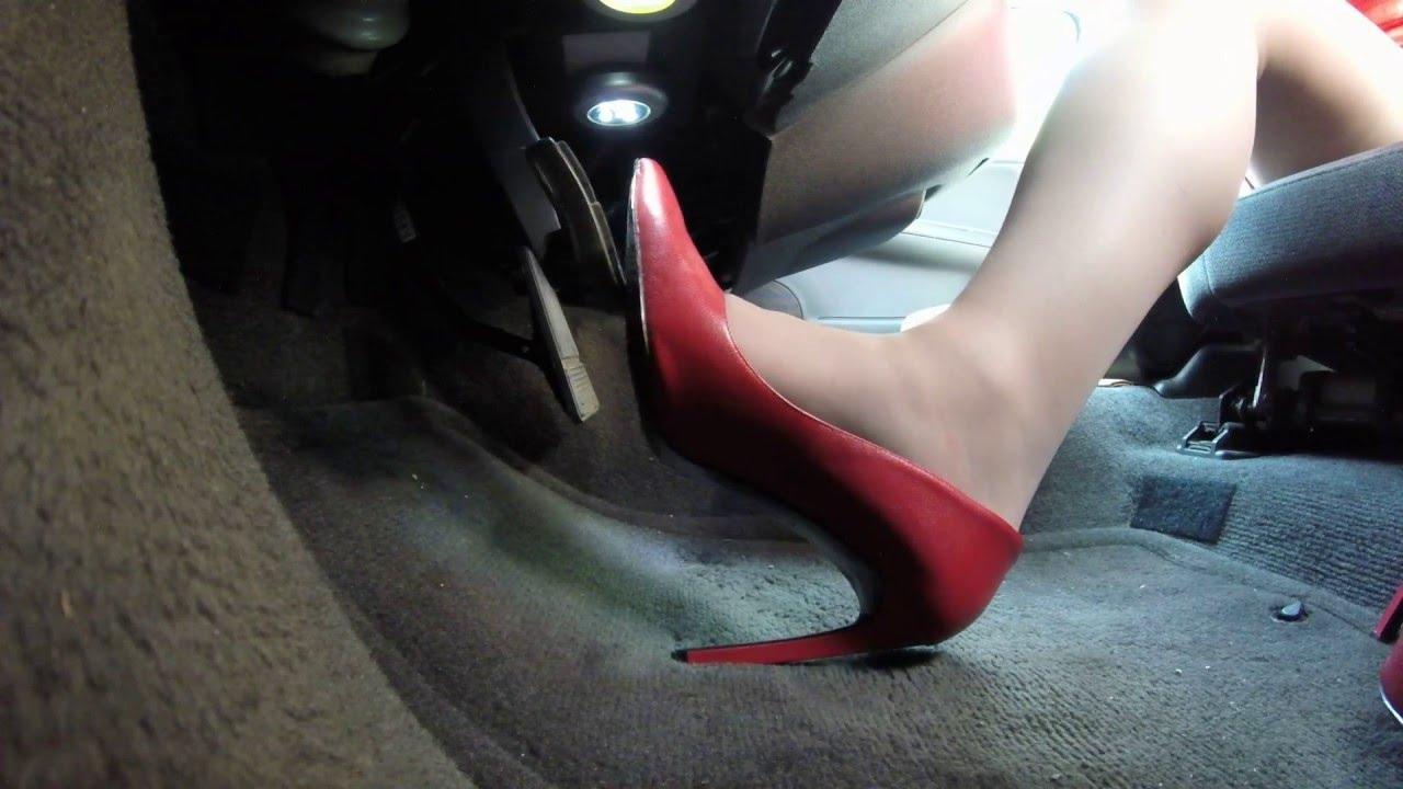 high heel driving