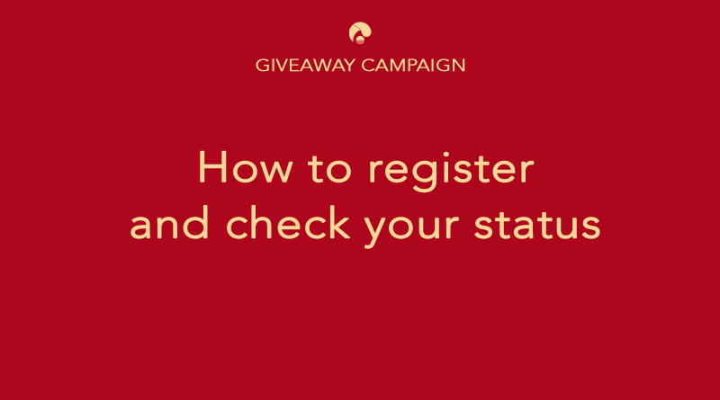 How to register and check status