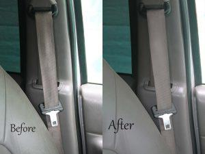 Seat belts cleaning