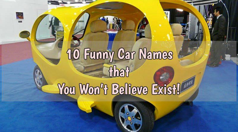 funny car names
