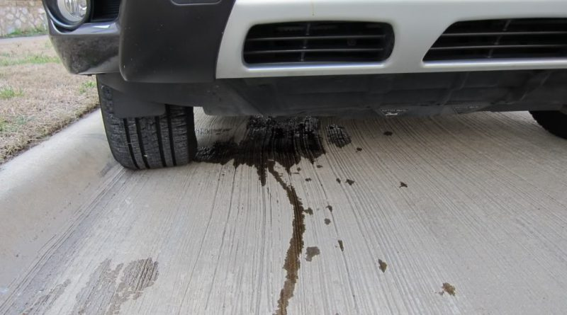 Oil Leak in Exhaust Pipe
