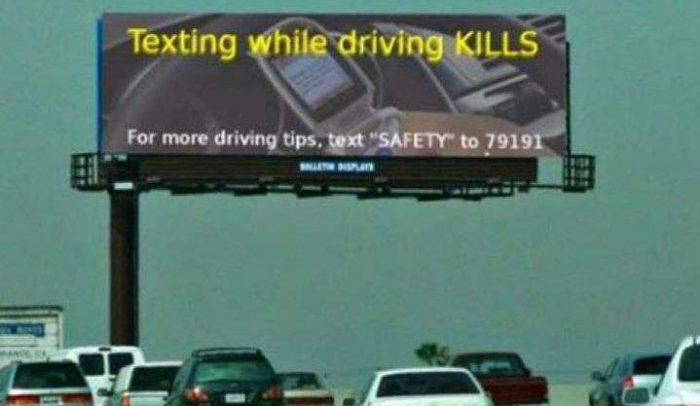 Texting Funny Caution