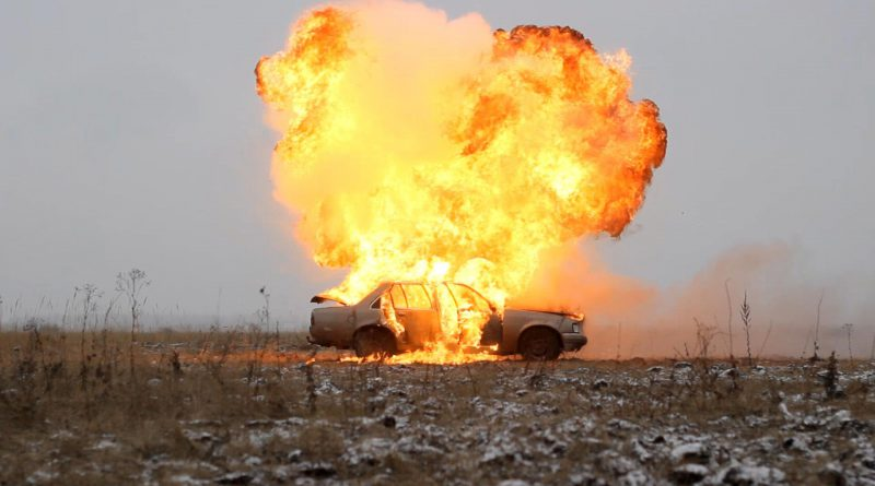 Results after shooting the gas tank