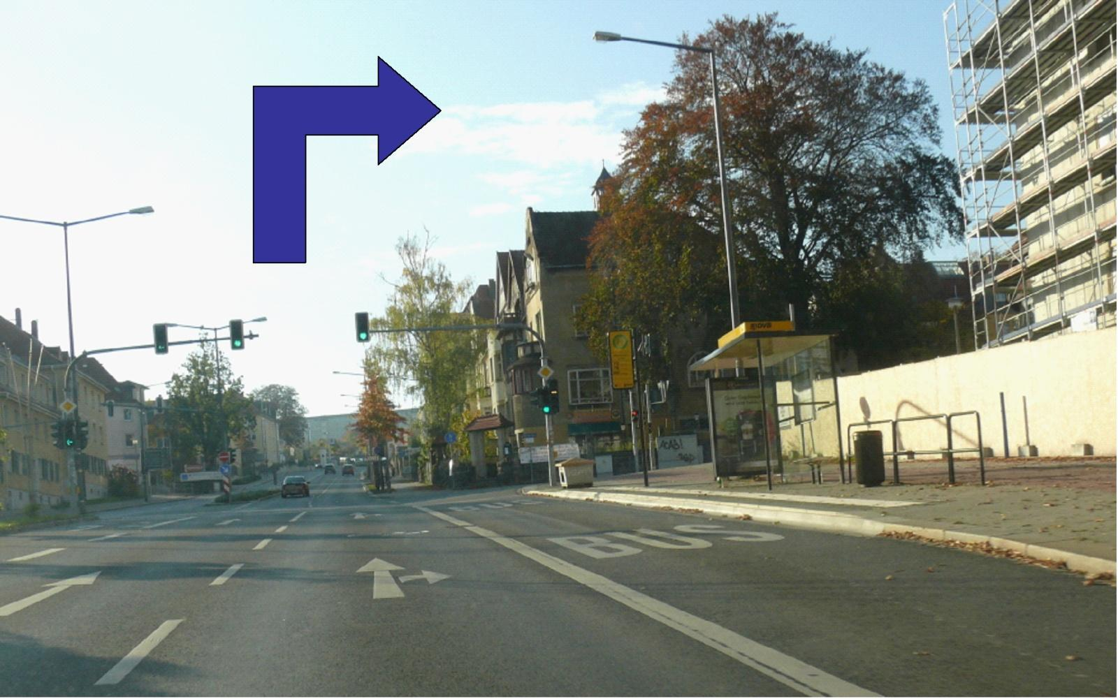 taking right turn