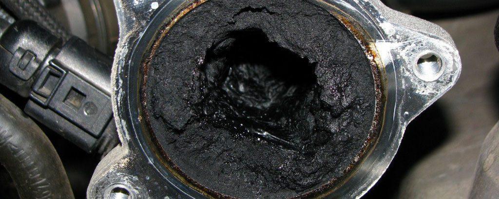 what causes black smoke