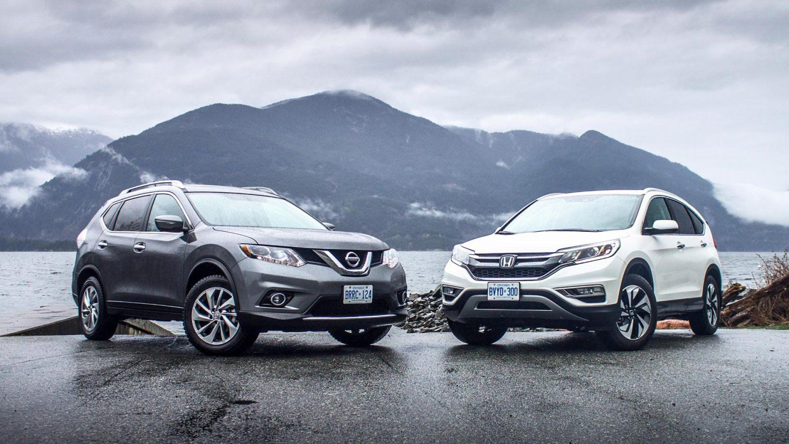Honda crv vs nissan rogue car from japan for Which is better nissan rogue or honda crv