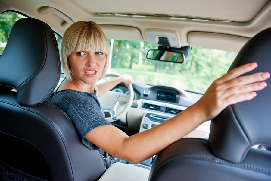car moves in reverse gear