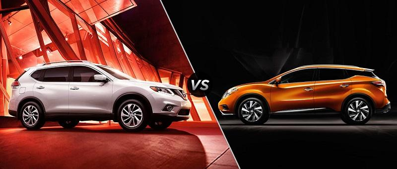 the ultimate comparison nissan rogue vs murano car from. Black Bedroom Furniture Sets. Home Design Ideas