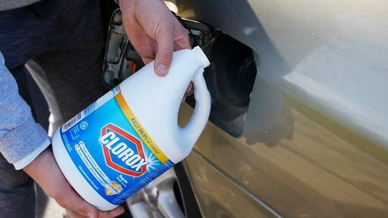how much bleach does it take to ruin a car