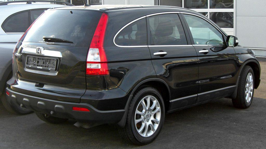 The back of 2008 Honda CRV review