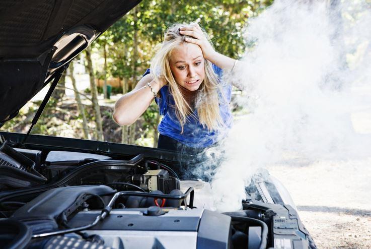 car smoking but not overheating