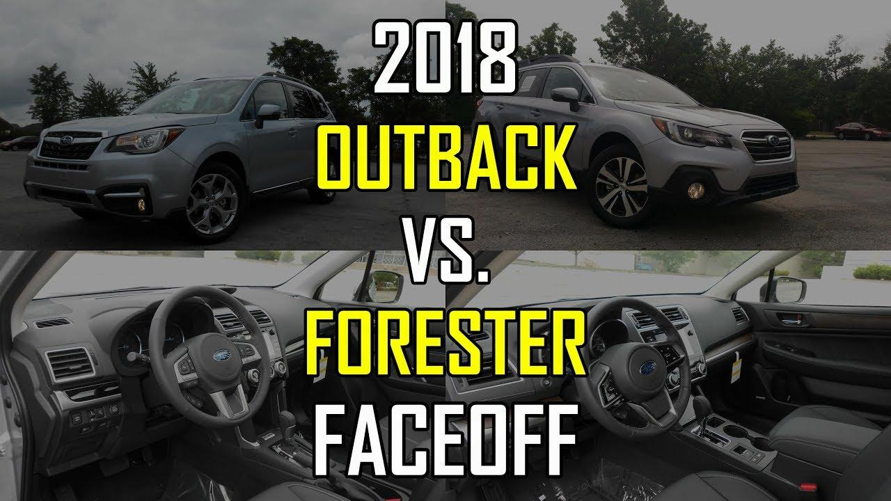 Forester Vs Outback >> Subaru Forester Vs Outback Head To Head