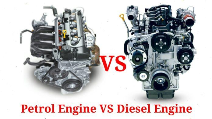 what differs petrol engines from diesel engines in terms of