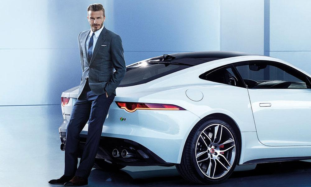 David Backham and his car