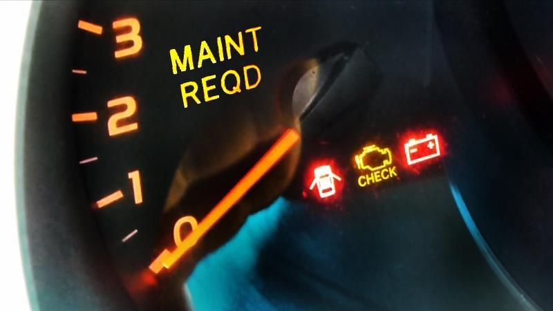 how to reset maintenance light