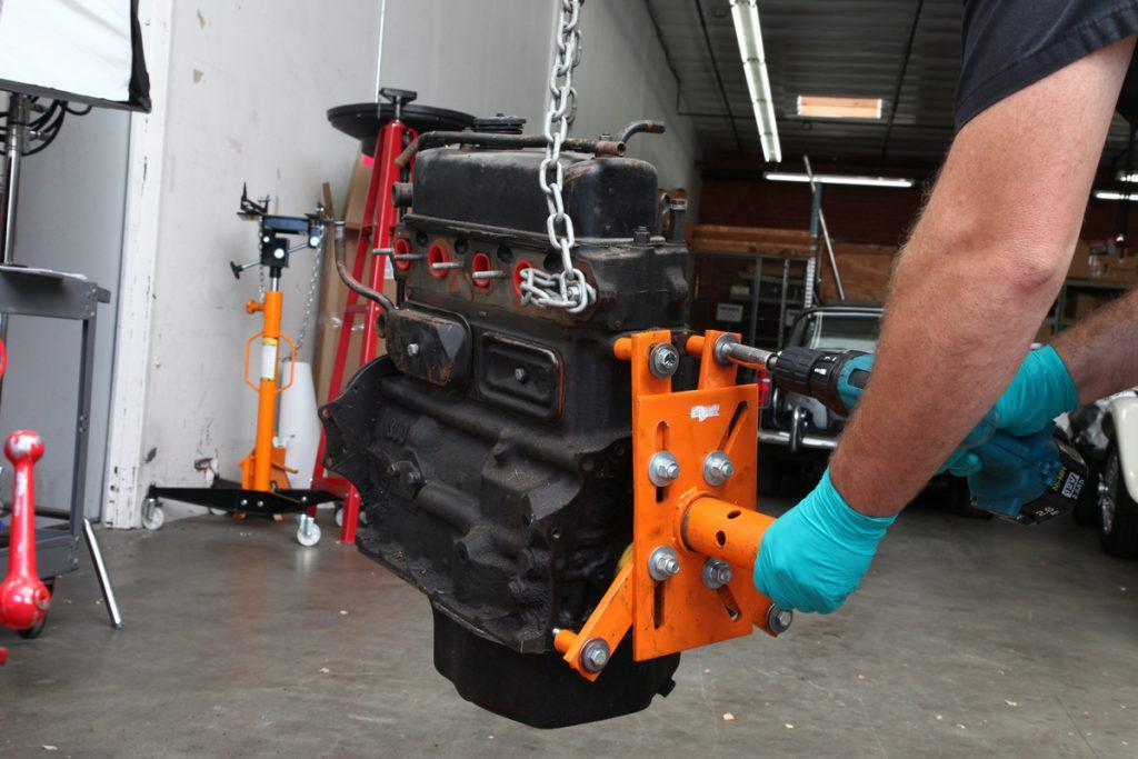 Look for How to use an engine stand