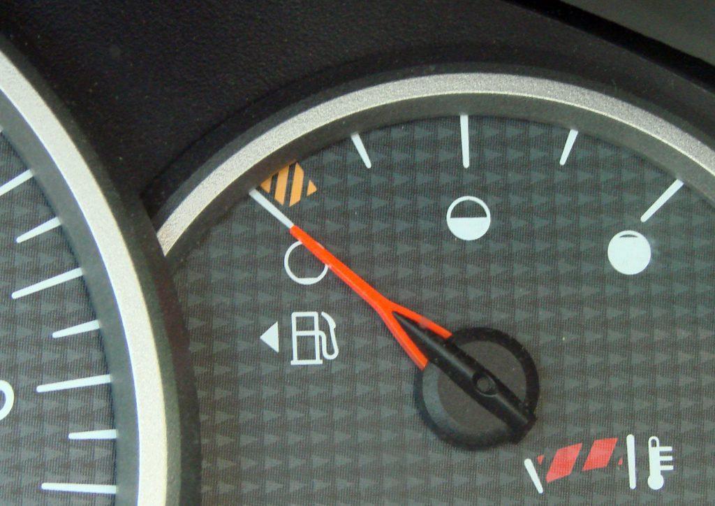 Arrow Symbol on The Fuel Indicator