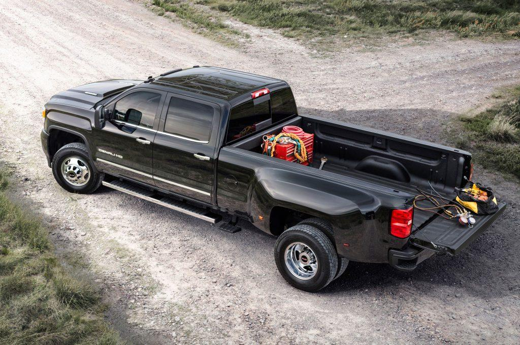 Why truck rear wheels are concave